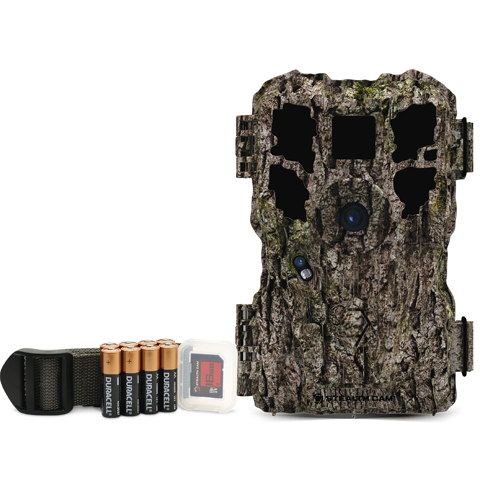 Stealth Cam PX24CMOK Trail Camera Combo with Batteries and SD Card