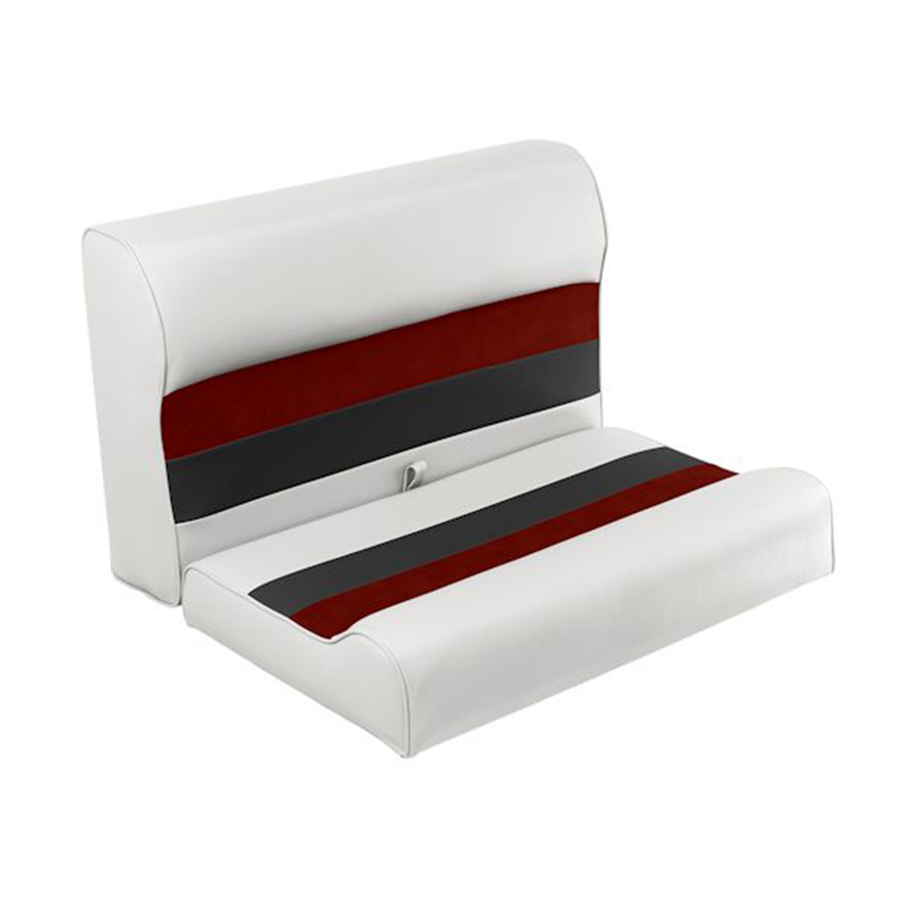 """Toonmate Deluxe 27"""" Lounge Seat - TOP ONLY - White/Red/Charcoal"""