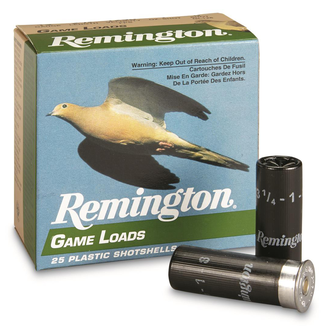 Remington Game Load, 12-ga, 2-3/4″, 1-oz, #7