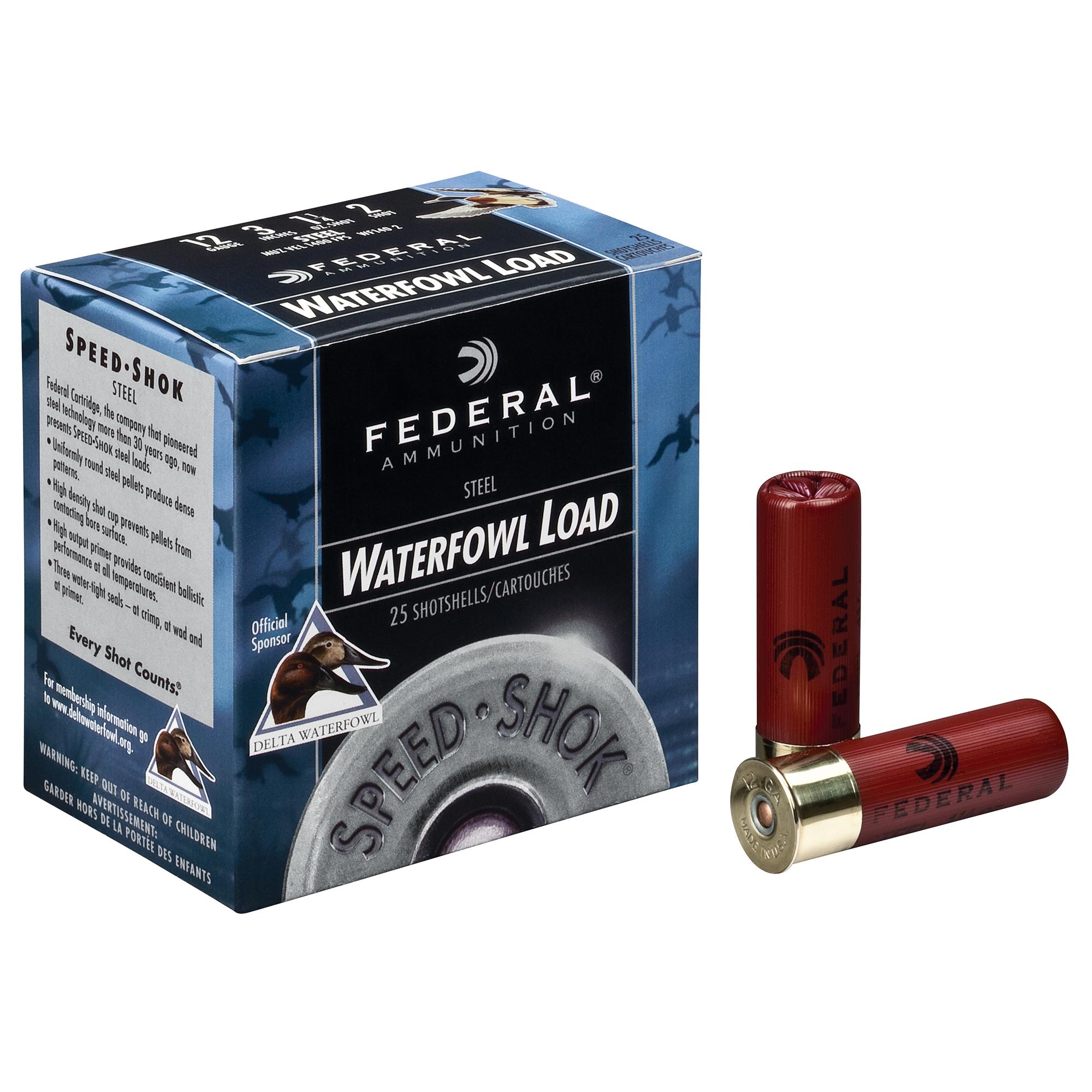 Federal Premium Speed-Shok Steel Waterfowl Loads, 12-ga, 3-1/2″, 1-3/8 oz, #2