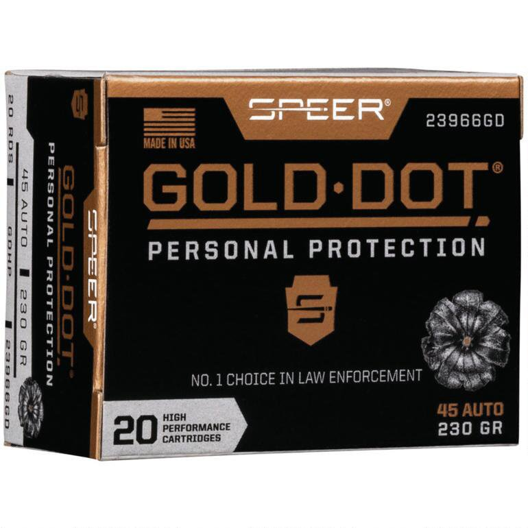 Speer Gold Dot Personal Protection Ammo, .45 ACP