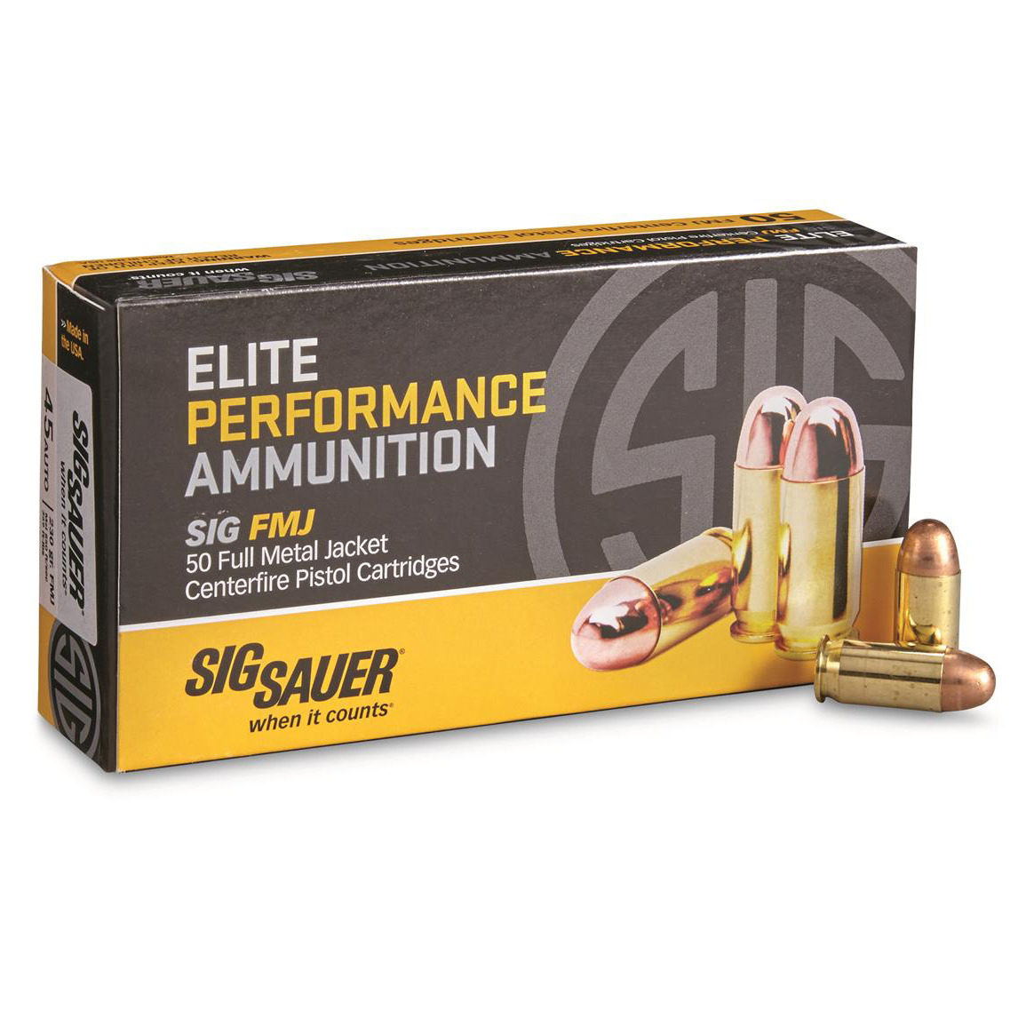 SIG Sauer Elite Performance Ammunition, .45 ACP, 230-gr, FMJ