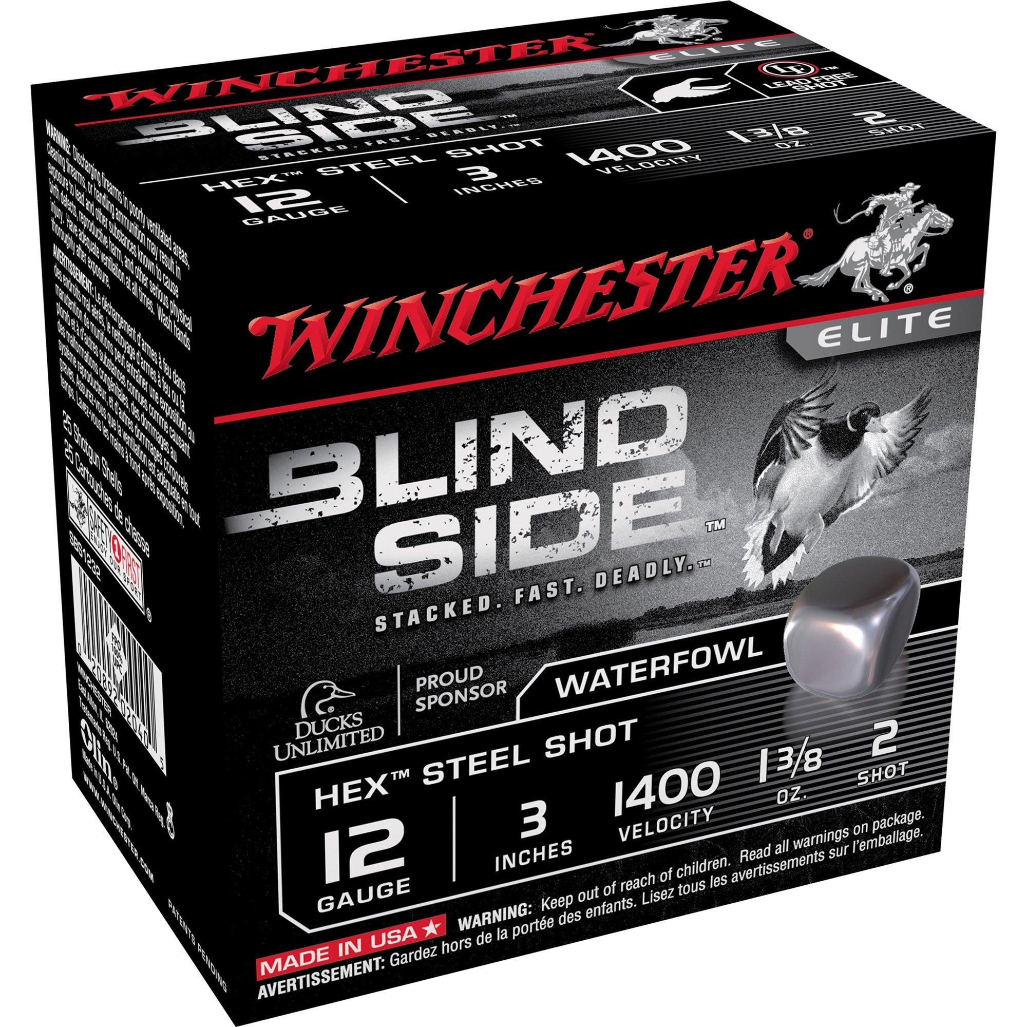 Winchester Blind Side Magnum Ammo, 12-ga, 3″, 1-3/8 oz, #2