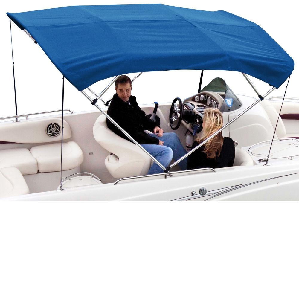 """Shademate Sunbrella 4-Bow Bimini Top, 8'L x 54""""H, 85""""-90"""" Wide"""