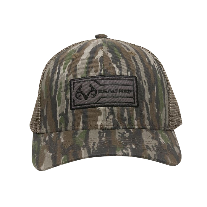 Realtree Men's Patch Logo Camo Trucker Cap