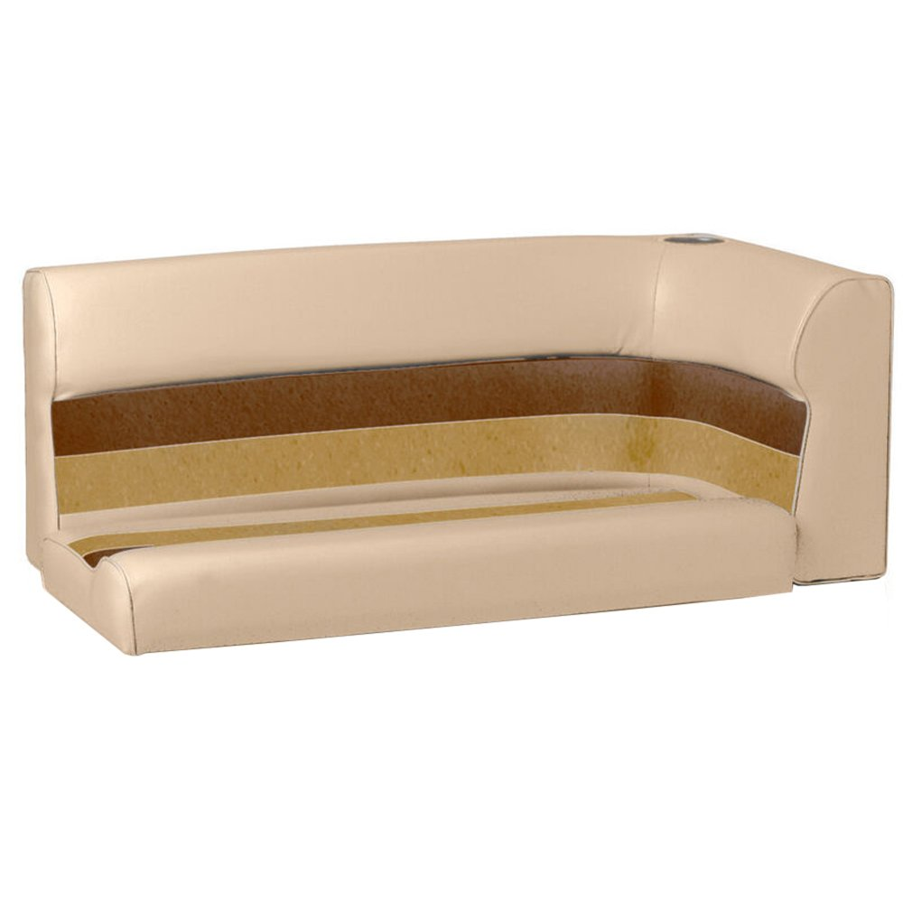 Toonmate Deluxe Pontoon Left-Side Corner Couch - TOP ONLY - Sand/Chesnut/Gold