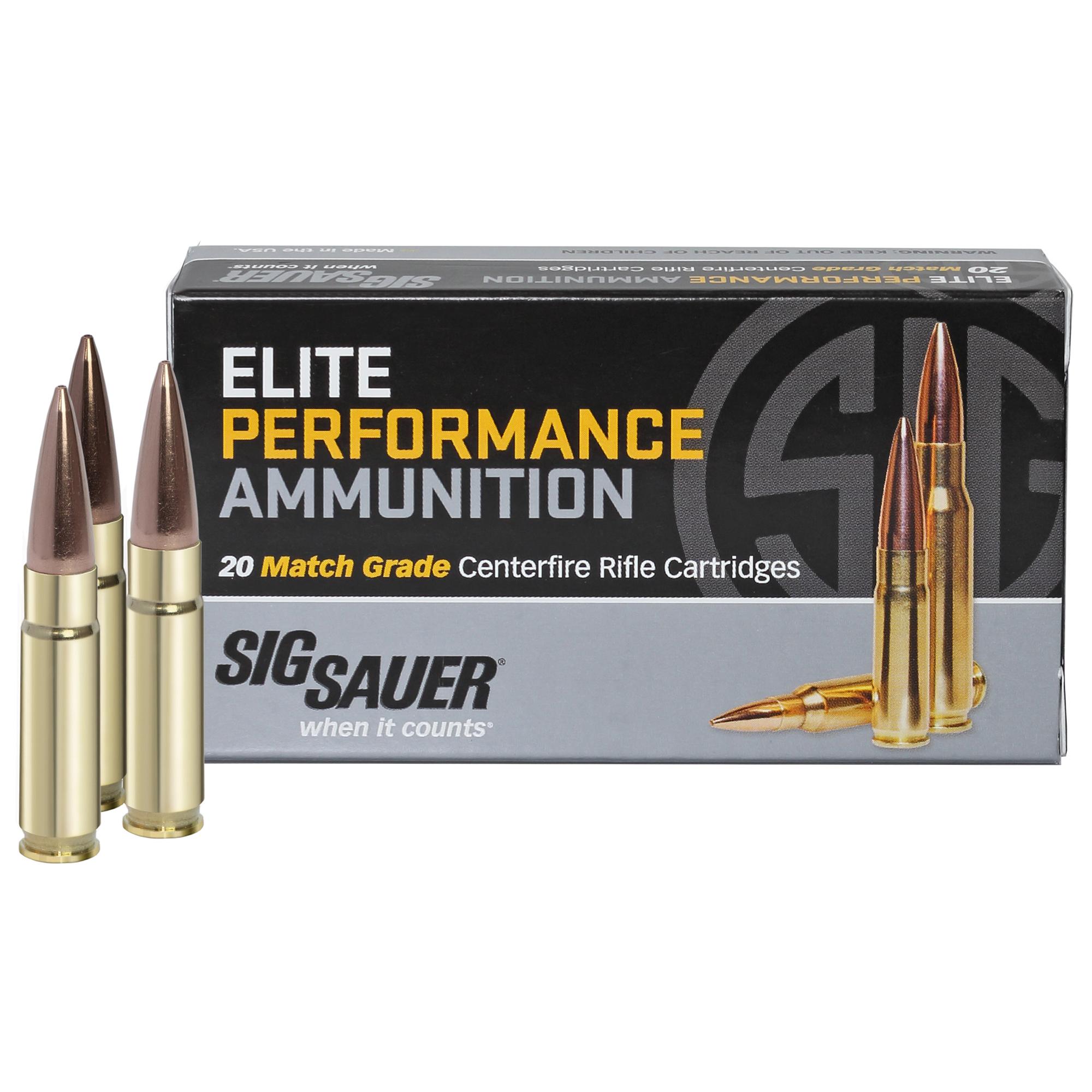 SIG Sauer Elite Performance Match Ammo, .300 AAC Blackout, 125-gr, Supersonic