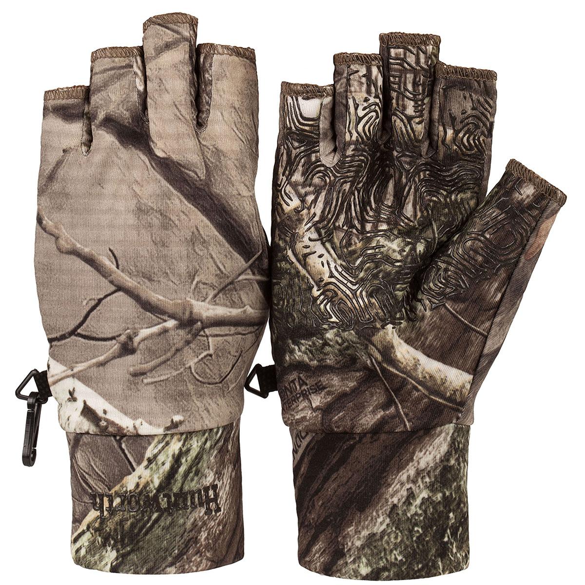 Huntworth Men's Half-Finger Liner Glove, Hidd'n Camo