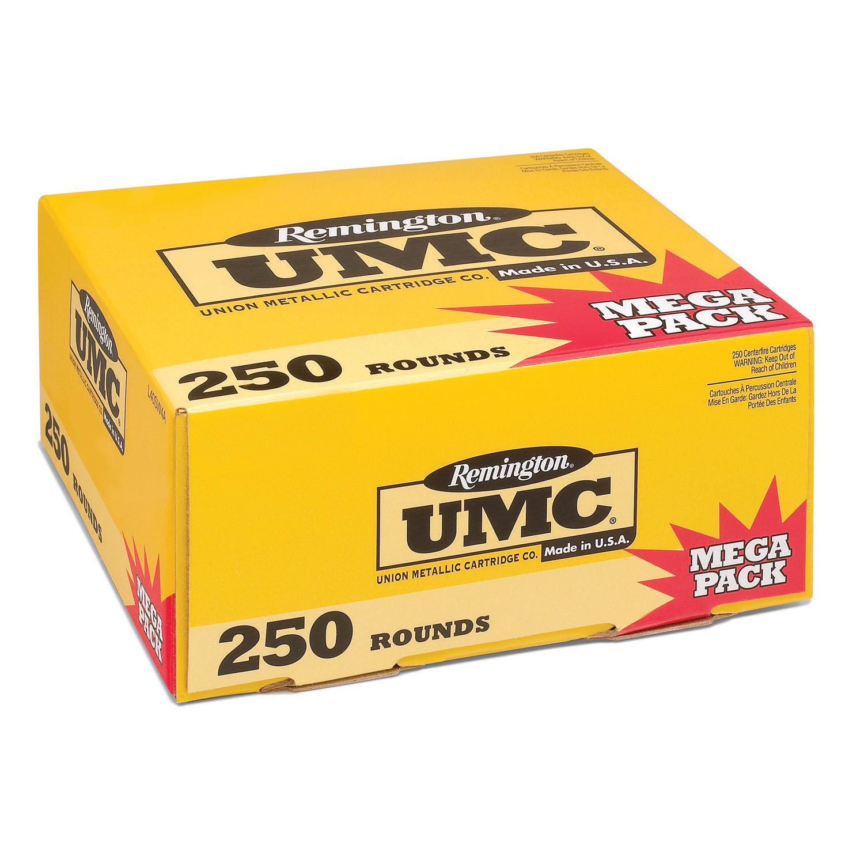 Remington UMC Handgun Ammunition Mega Pack, .380 ACP, 95-gr, FMJ, 250 Rounds thumbnail