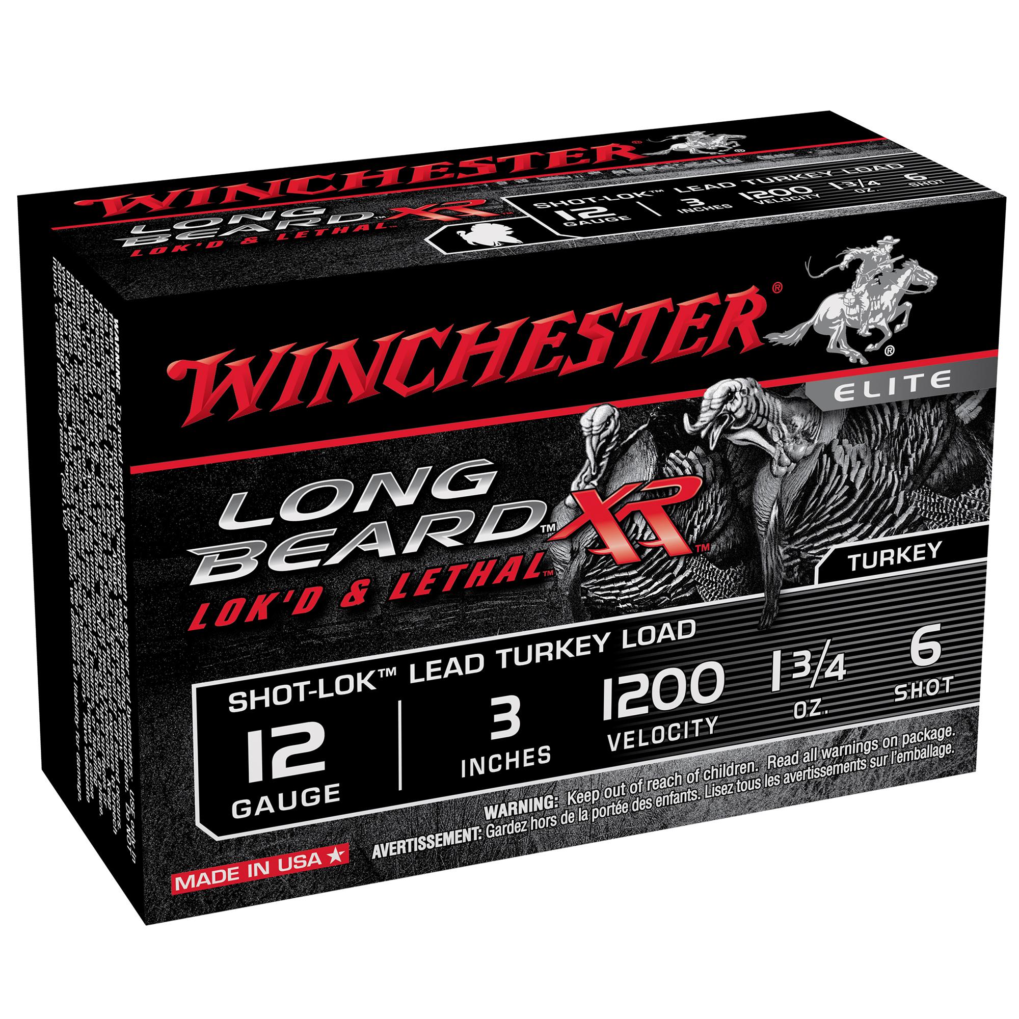 Winchester Long Beard XR Turkey Loads, 12-ga, 3″, 1-3/4 oz, #6