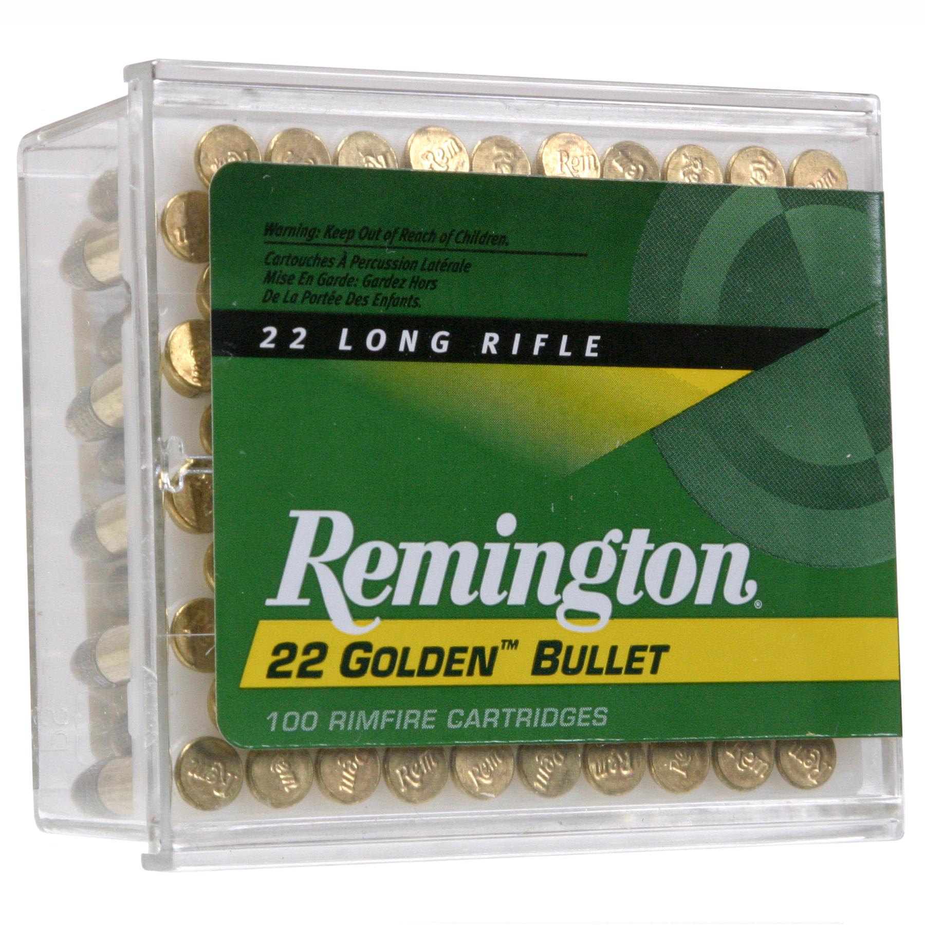 Remington Golden Bullet Rimfire Ammo, .22 LR, 40-gr, RN
