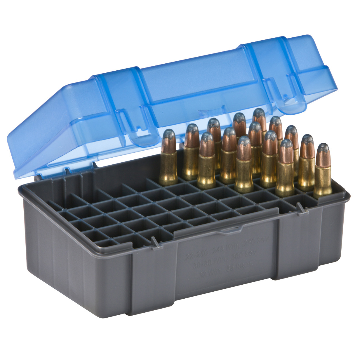 Plano 50-Round Rifle Ammo Case, .22-250, .250 Savage, 30-30 Win, .32 Win