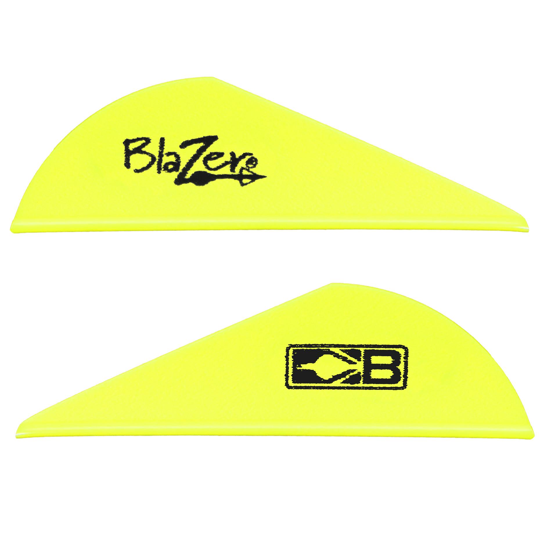 Bohning 2″ Blazer Vanes, Neon Yellow, 36-Pack
