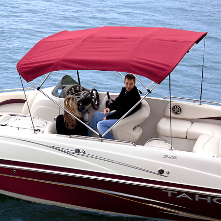 Shademate Polyester Stainless 4-Bow Bimini Top 8'L x 54''H 67''-72'' Wide