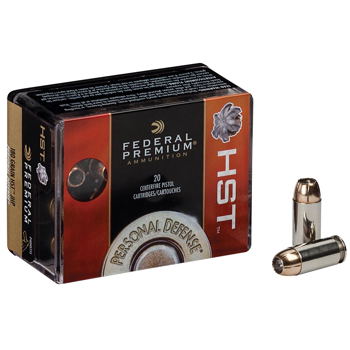 Federal Premium Personal Defense Handgun Ammo, .45 ACP, 230-gr, HST-JHP
