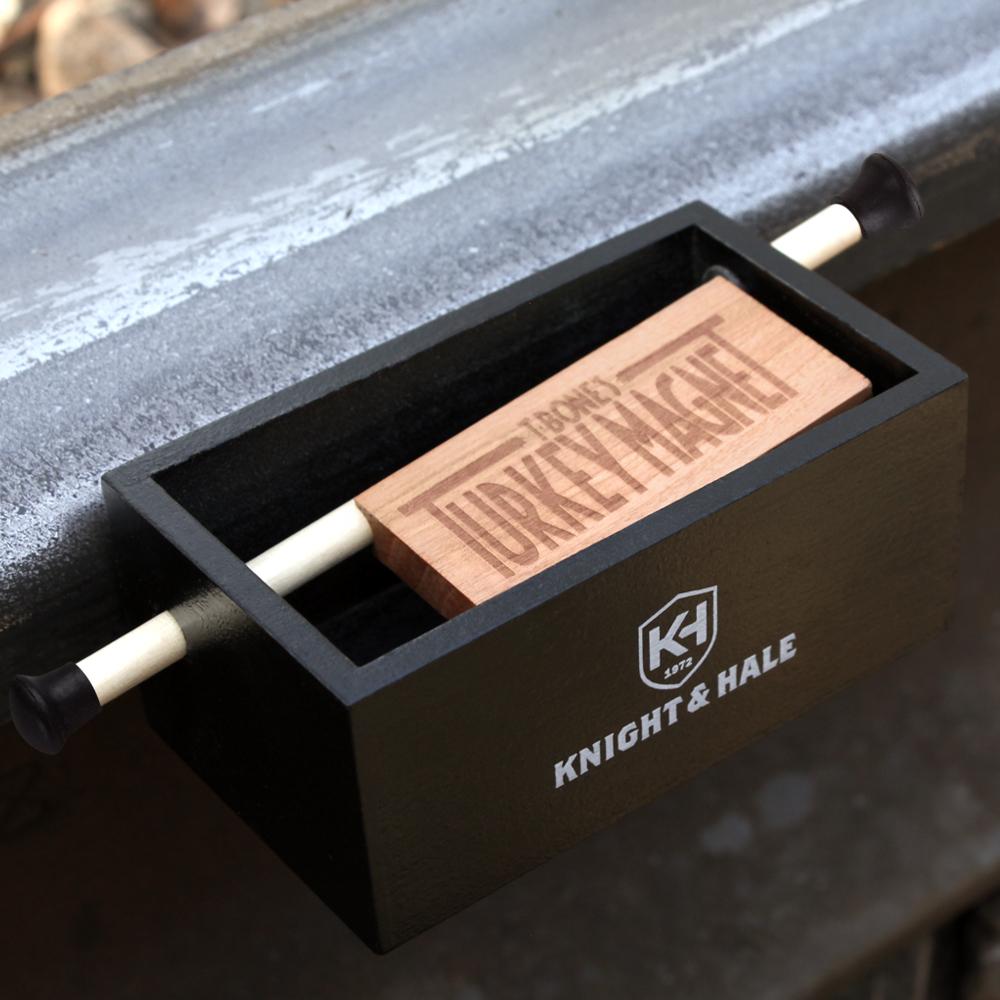 Knight & Hale Turkey Magnet Push/Pull Box Call