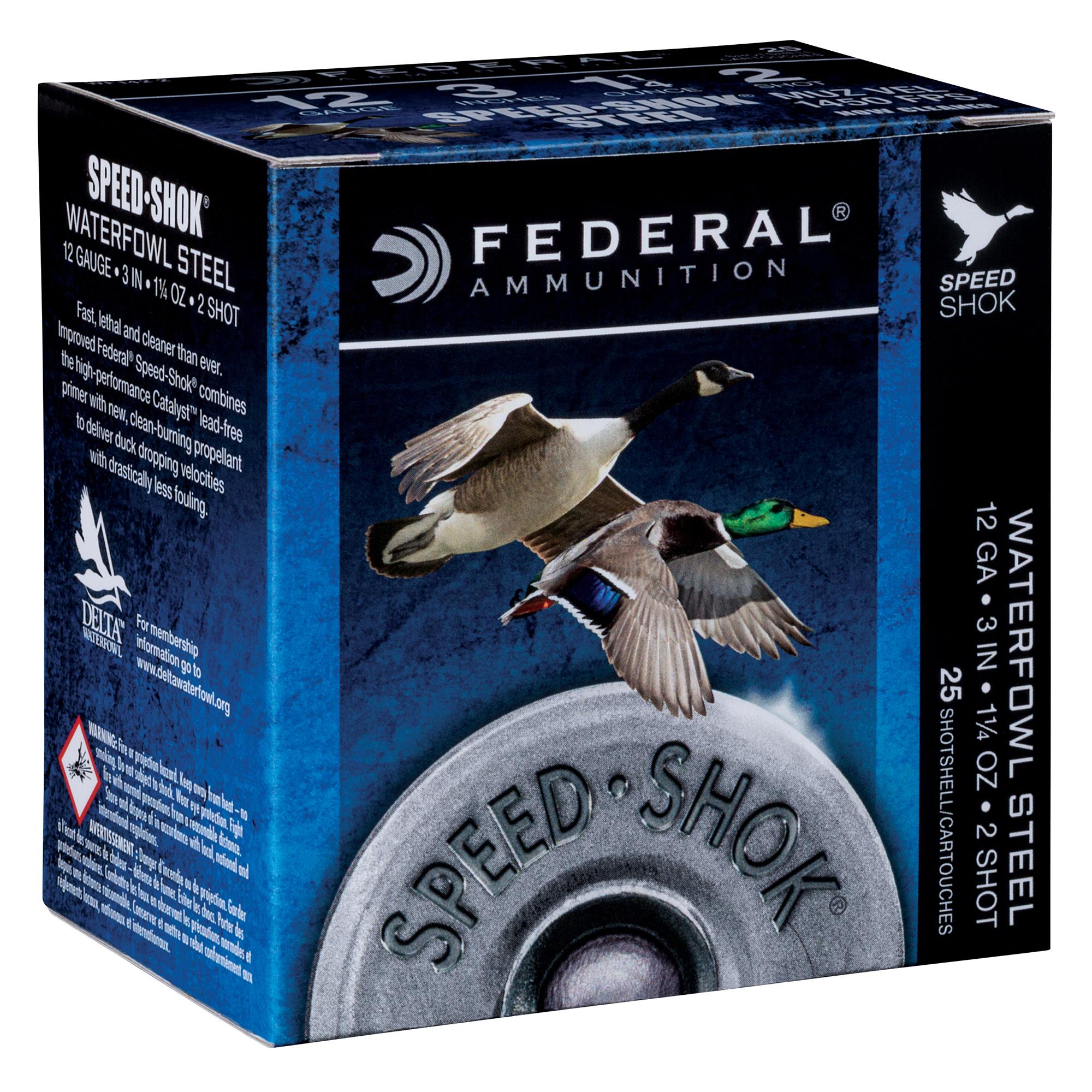 Federal Premium Speed-Shok Steel Waterfowl Loads, 12-ga, 3″, 1-1/4 oz, 2