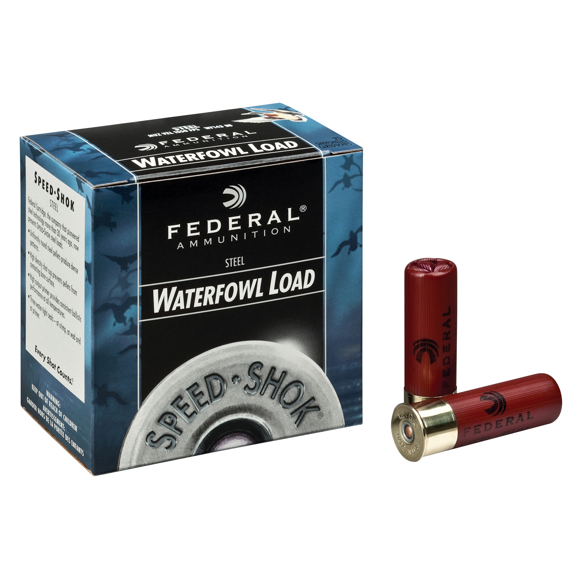 Federal Premium Speed-Shok Waterfowl 12ga, 3in, 1-1/8oz, #4 Shot Ammo