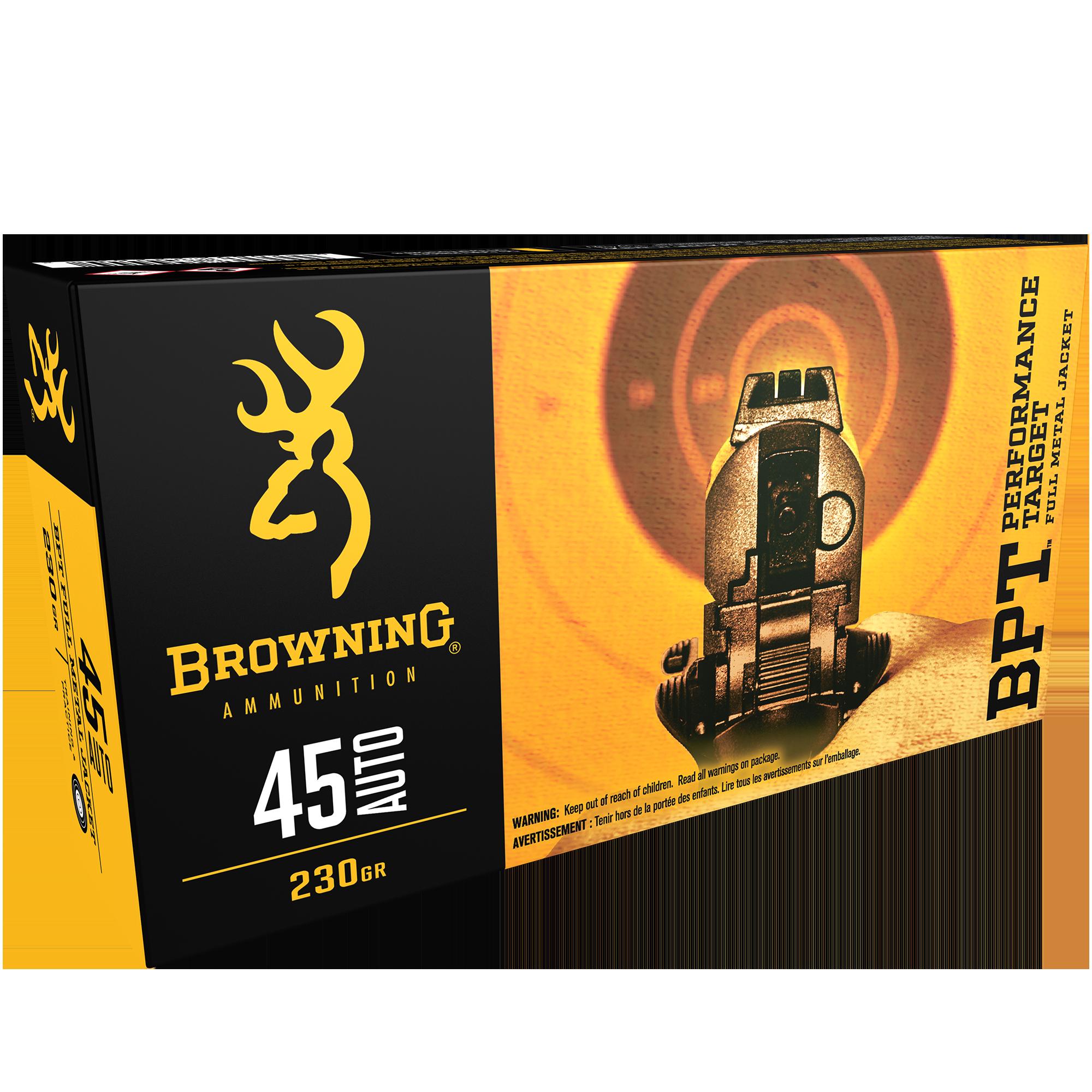 Browning BPT Performance Target Handgun Ammunition, .45 ACP, 230-gr, FMJ