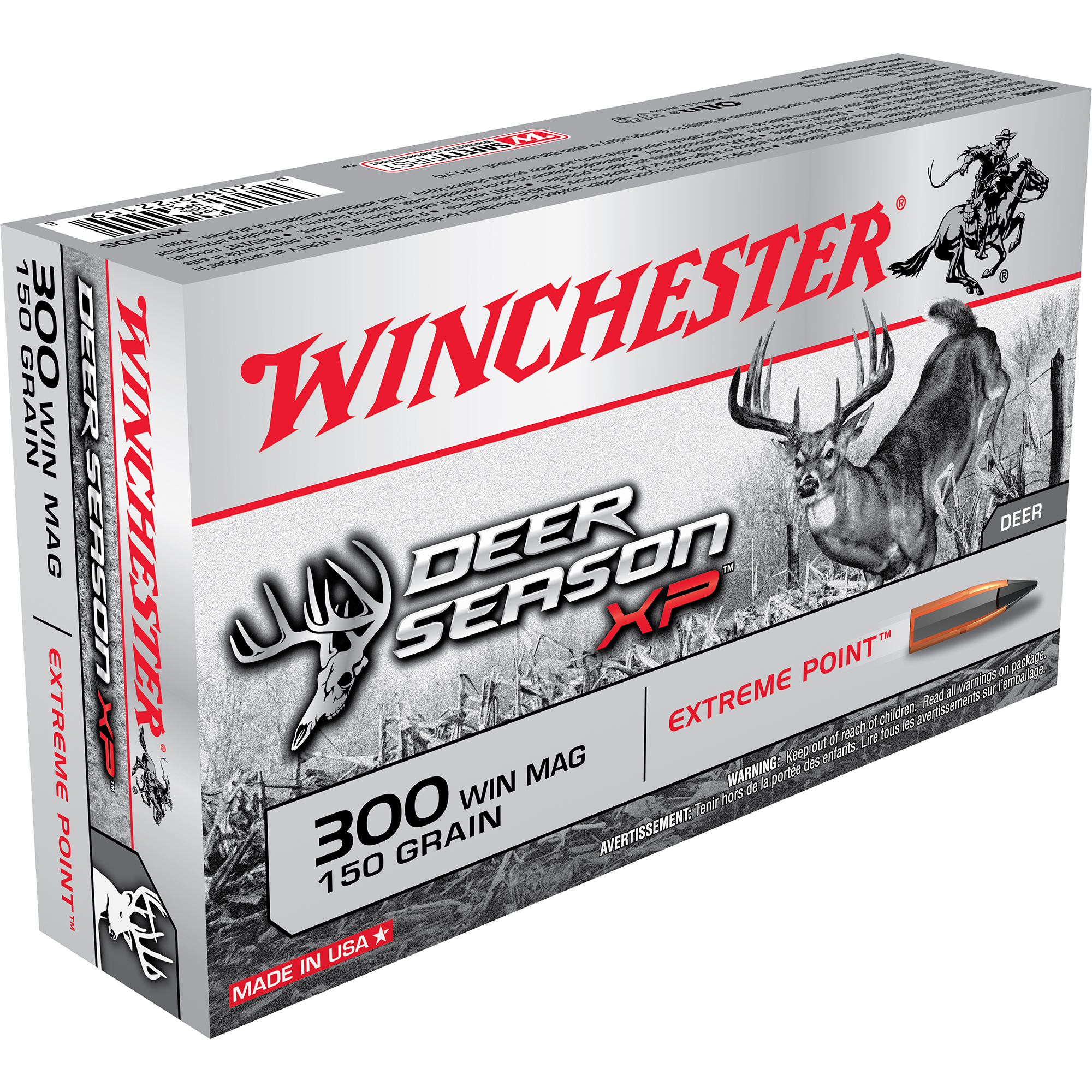 Winchester Deer Season XP Rifle Ammo, .300 Win Mag, 150-gr, Extreme Point