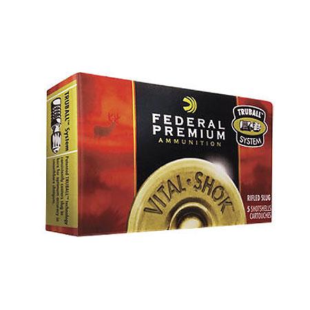 Federal Premium Vital-Shock TruBall Low-Recoil Rifled Slugs, 12-ga, 2-3/4″