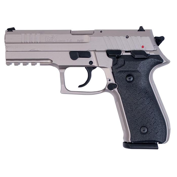 Arex Rex Zero 1 Standard Handgun, Nickel-Plated, 9mm