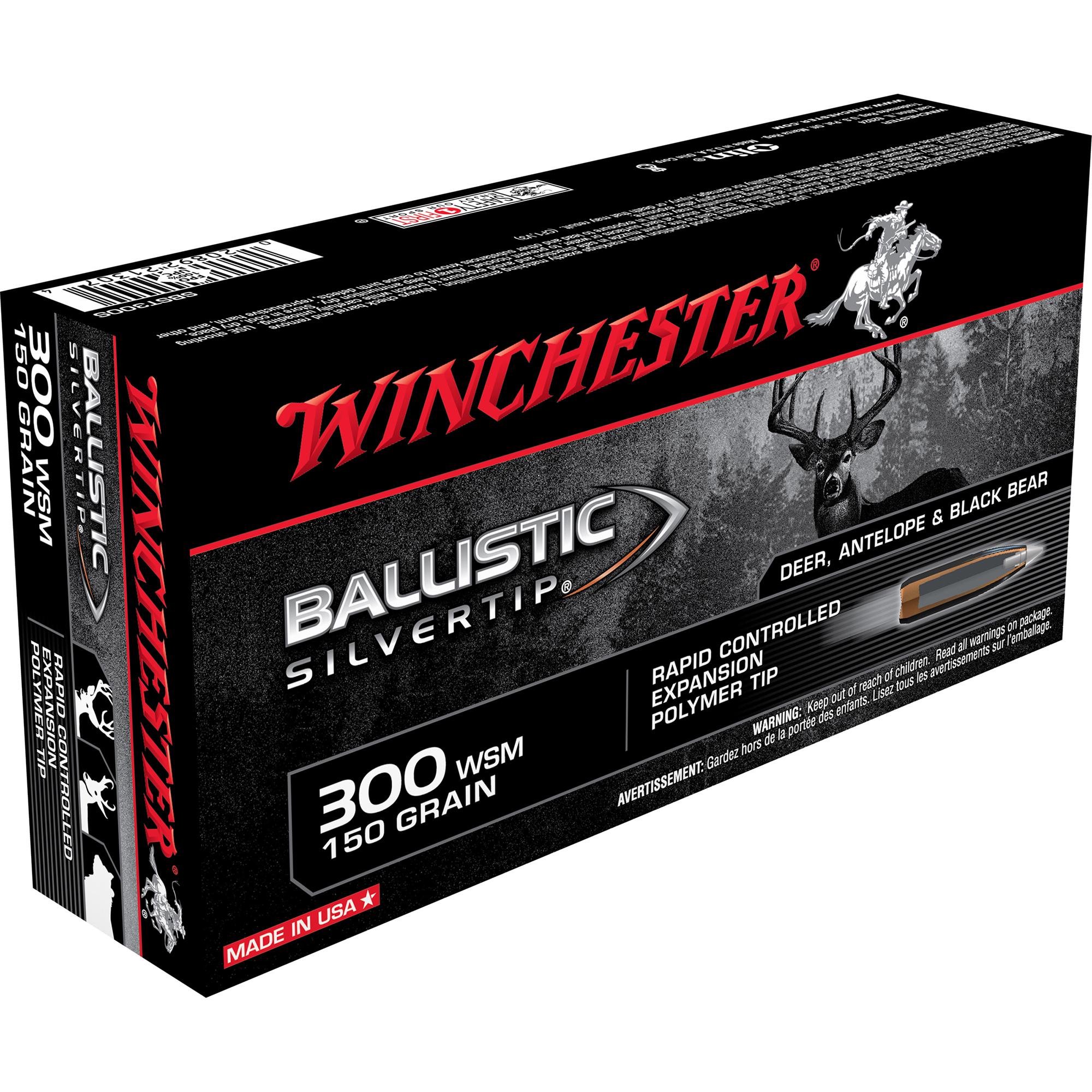Winchester Ballistic Silver Tip Supreme Centerfire Ammo, .300 WSM, 150-gr.