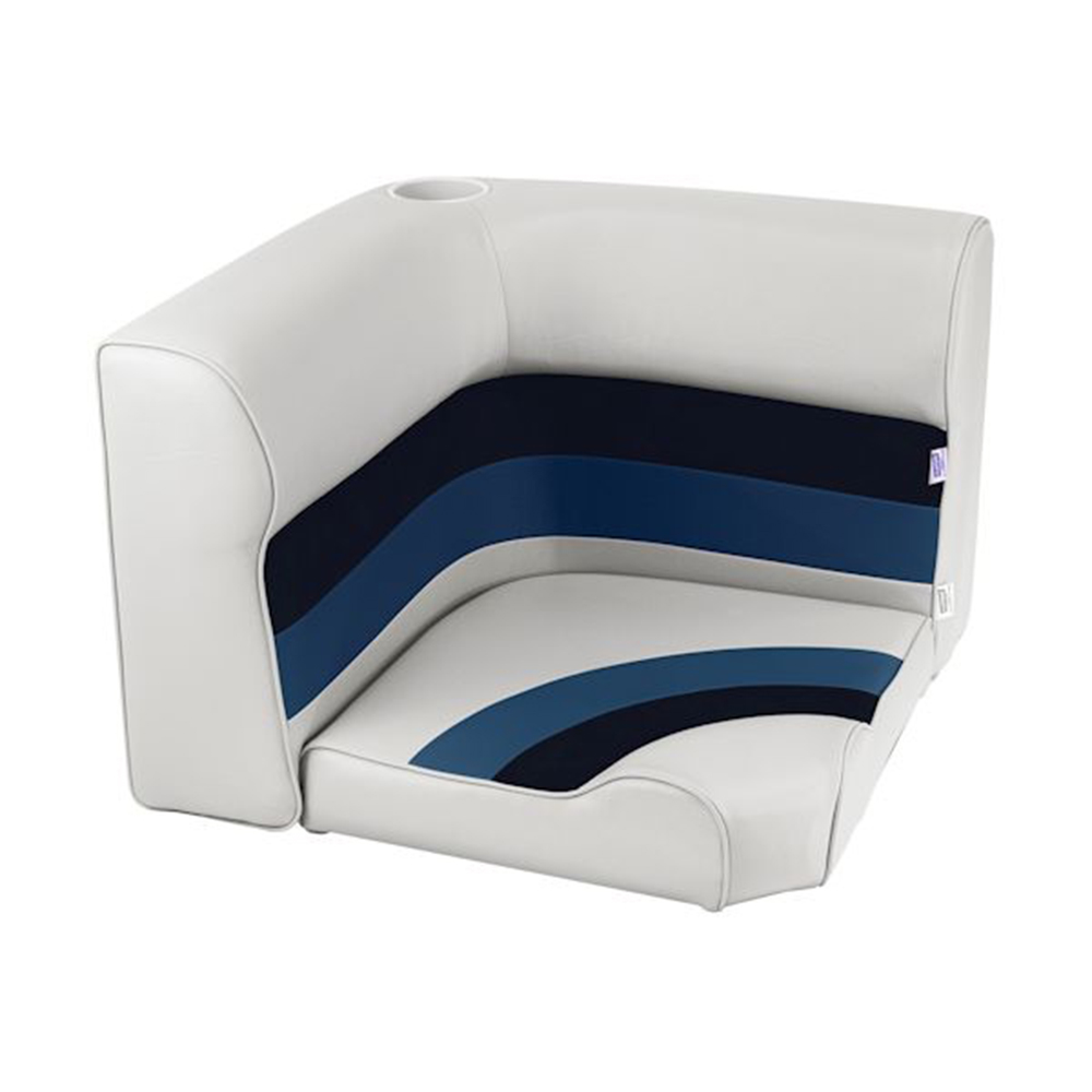 Toonmate Deluxe Radius Corner Section Seat - TOP ONLY - White/Navy/Blue