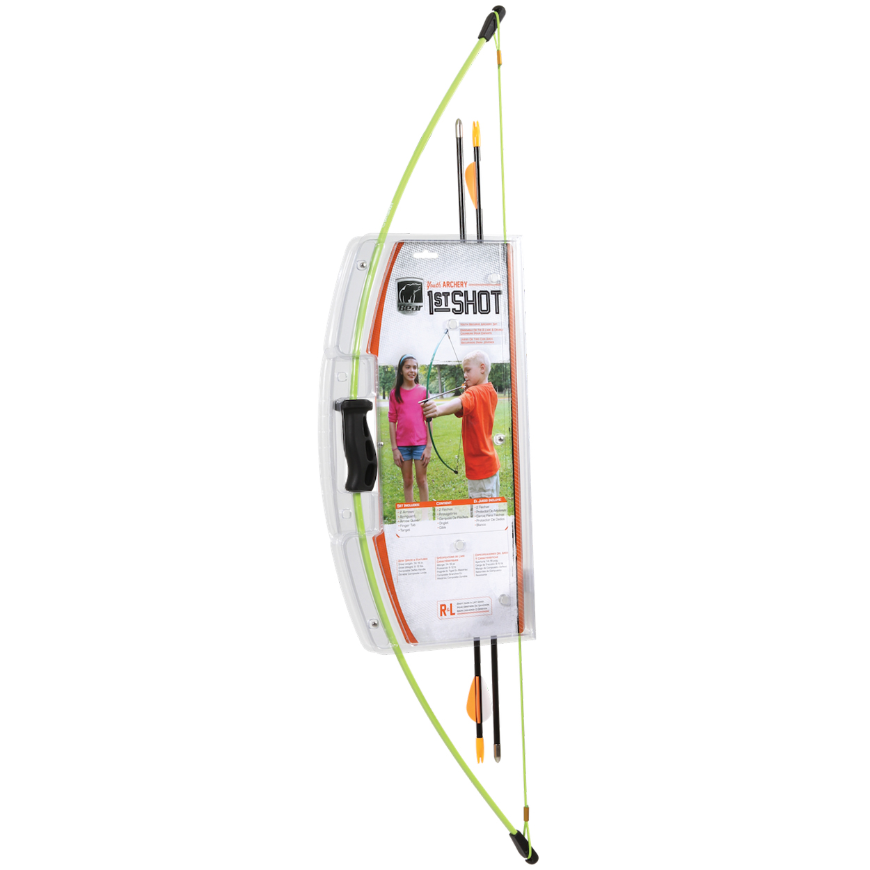 Bear Archery 1st Shot Youth Bow Set, Flo Green
