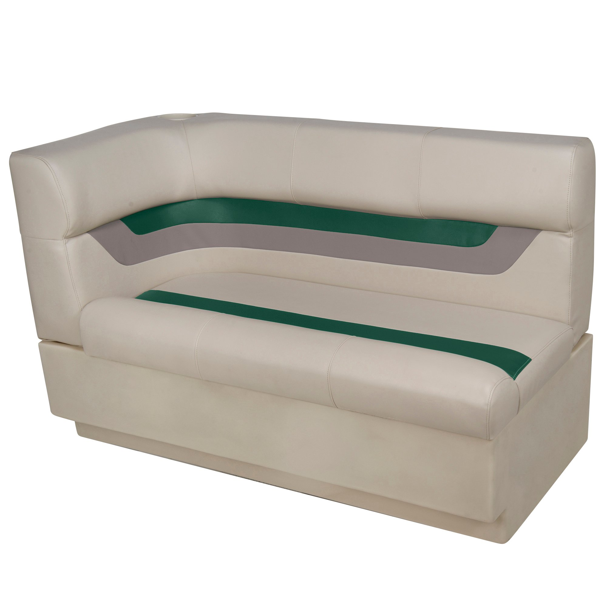 Toonmate Designer Pontoon Right-Side Corner Couch, Platinum