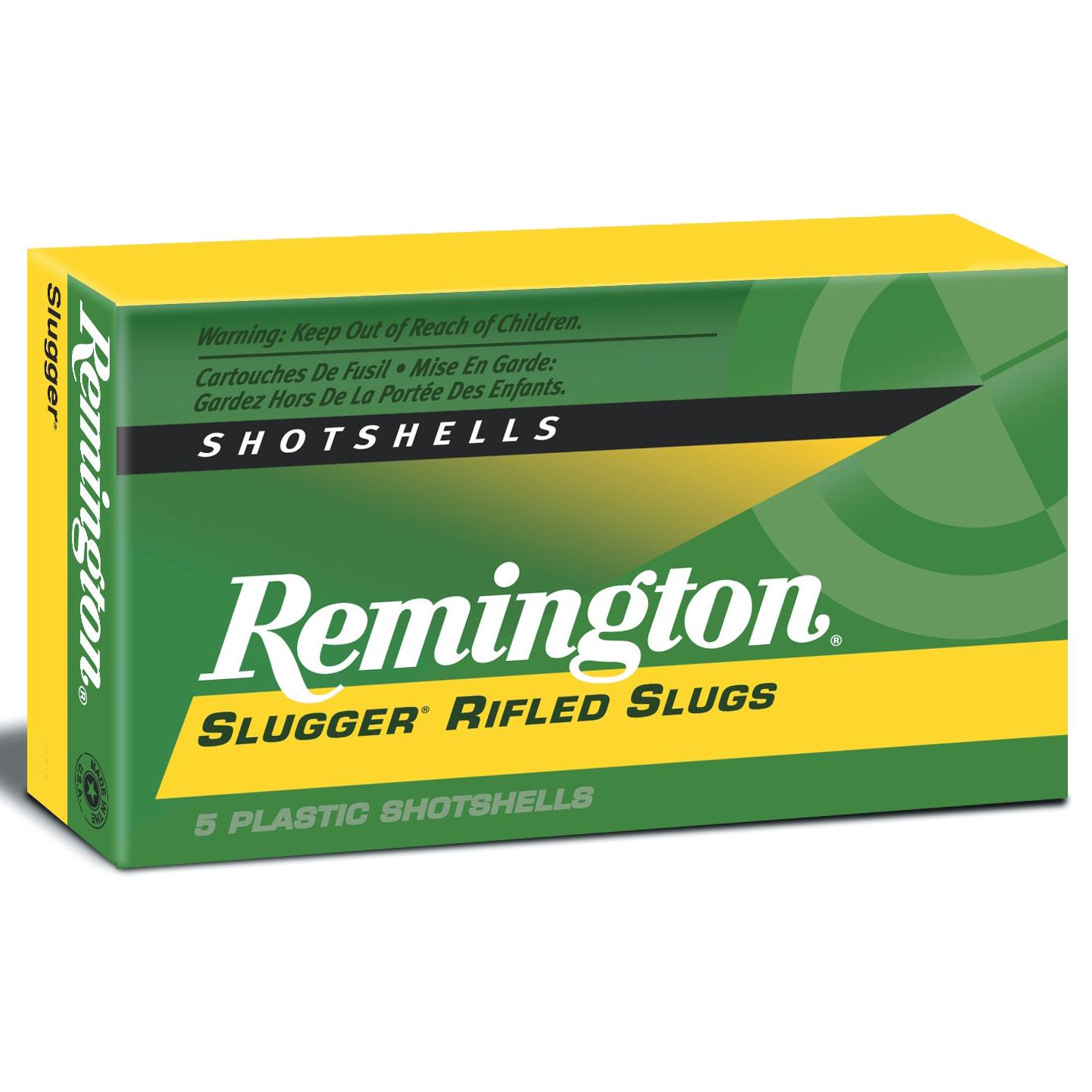 Remington Slugger Rifled Slugs, 12-ga, 2-3/4″, 1 oz.