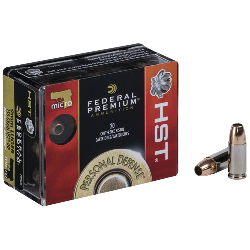 Federal Premium Personal Defense Handgun Ammo, 9mm, 147-gr, HST JHP