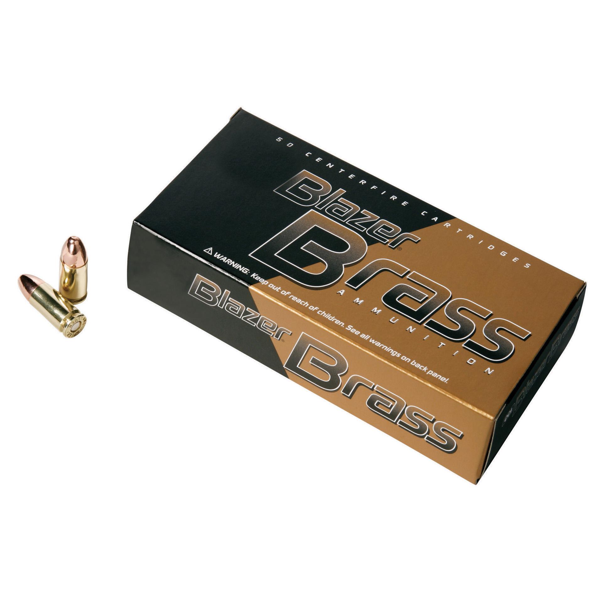 Blazer Brass Ammunition, 50-Rounds, .40 S & W, 180-gr, FMJ