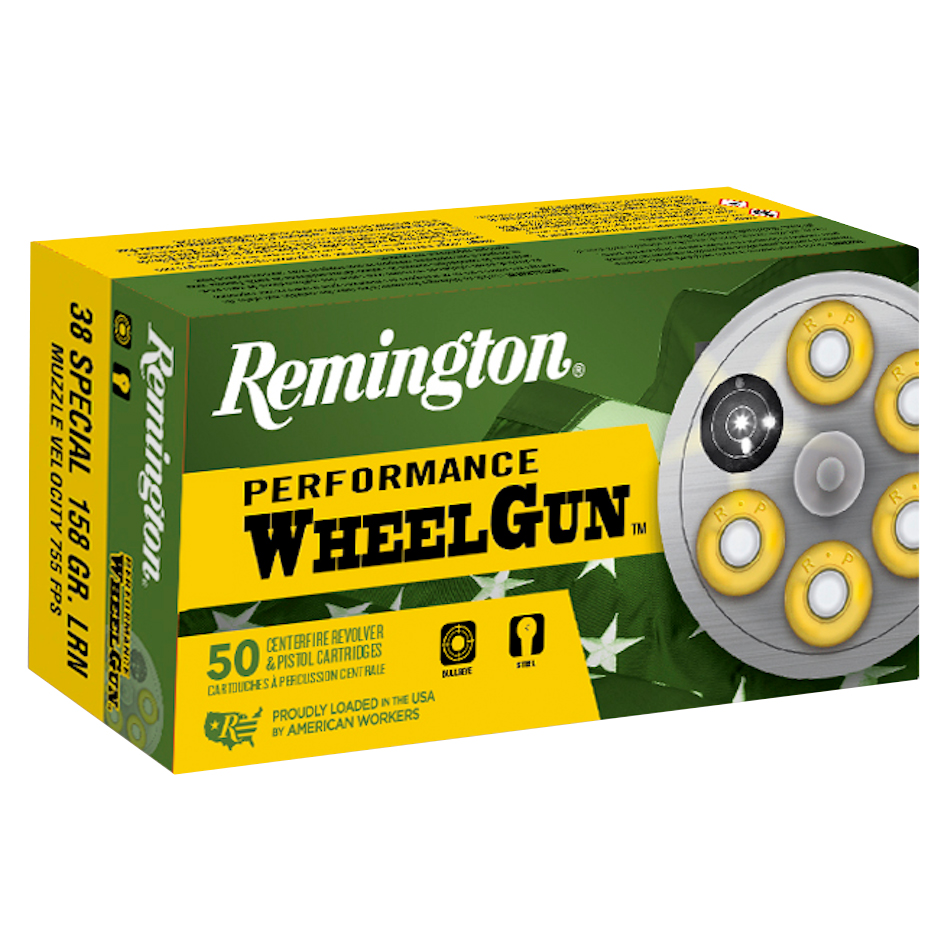 Remington Performance WheelGun Ammunition, .38 Spl, 158-gr, LRN