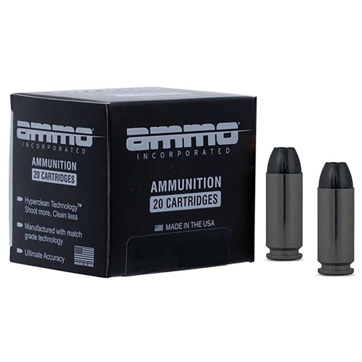Ammo Inc. Black Label HP .45 ACP Ammunition, 20 Ct.