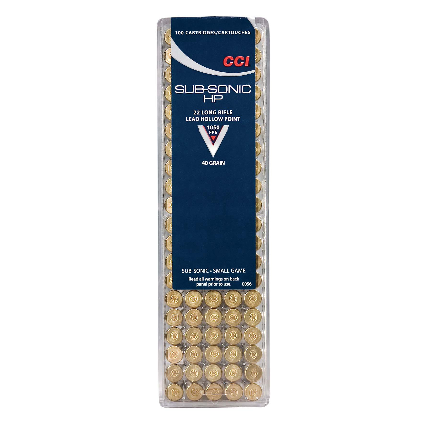 Speer Sub-Sonic HP Small Game Ammo, 22 LR, 40 gr, LHP