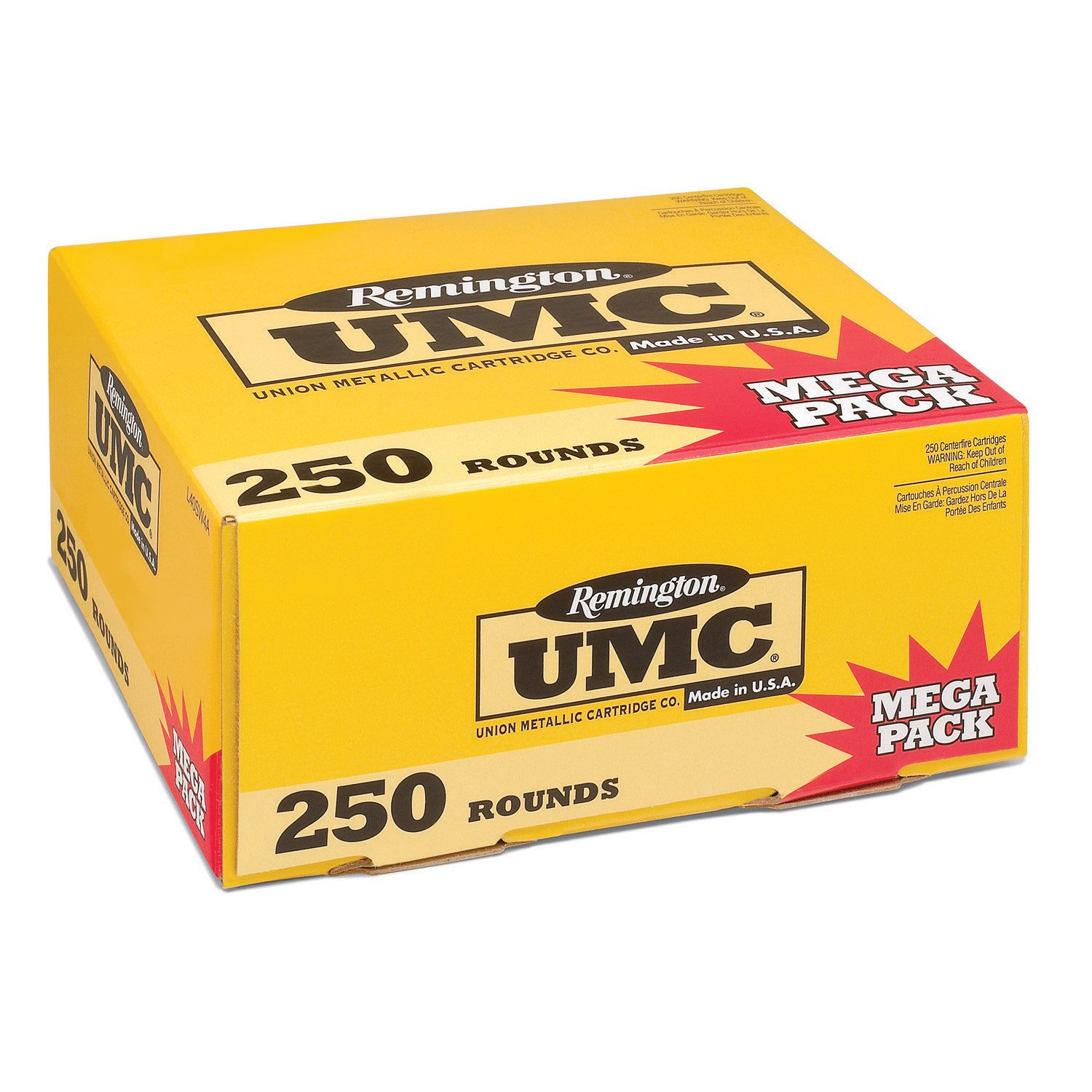 Remington UMC Handgun Ammunition Mega Pack, .45 ACP, 230-gr, FMJ, 250 Rounds