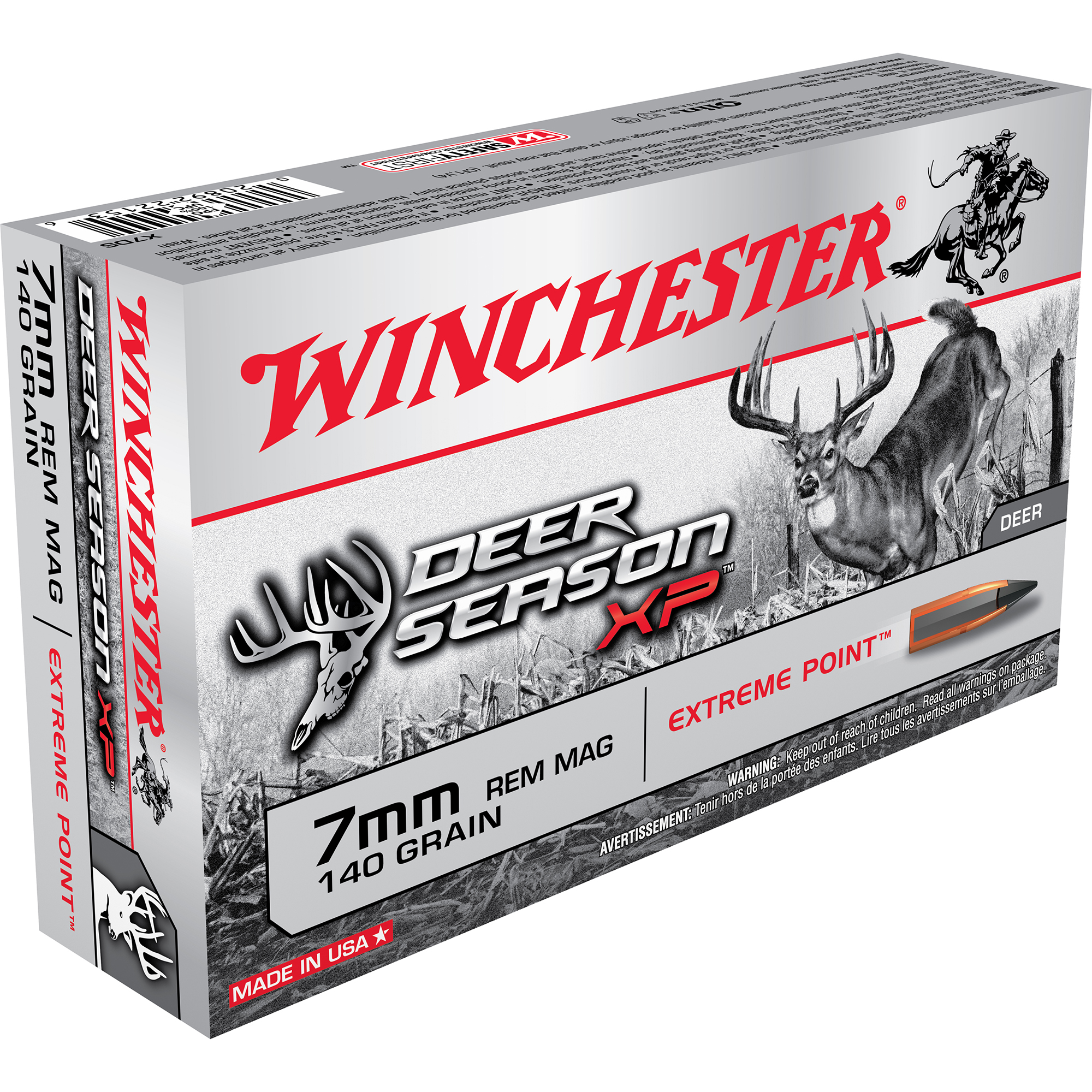 Winchester Deer Season XP Rifle Ammo, 7mm Rem Mag, 140-gr, Extreme Point