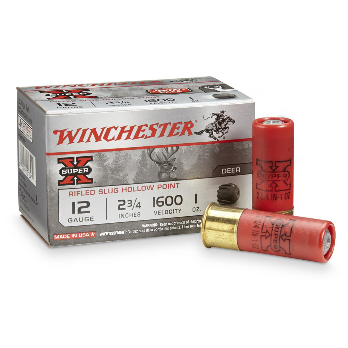 Winchester Super-X Slugs Value Pack, 12-ga, 2-3/4″, 1-oz.