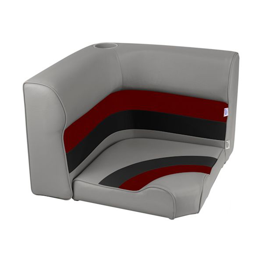 Toonmate Deluxe Radiused Corner Section Seat - TOP ONLY - Gray/Red/Charcoal