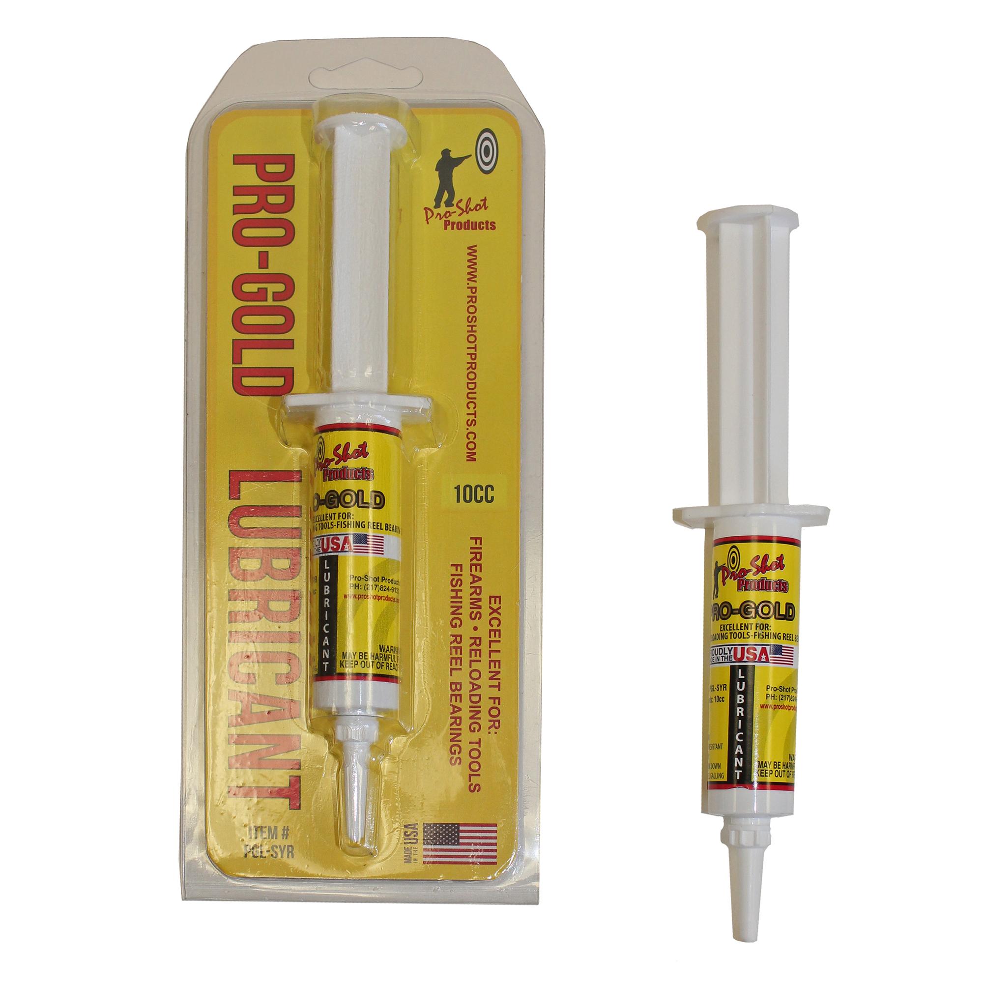 Pro-Shot Pro-Gold Lubricant, 10cc Syringe
