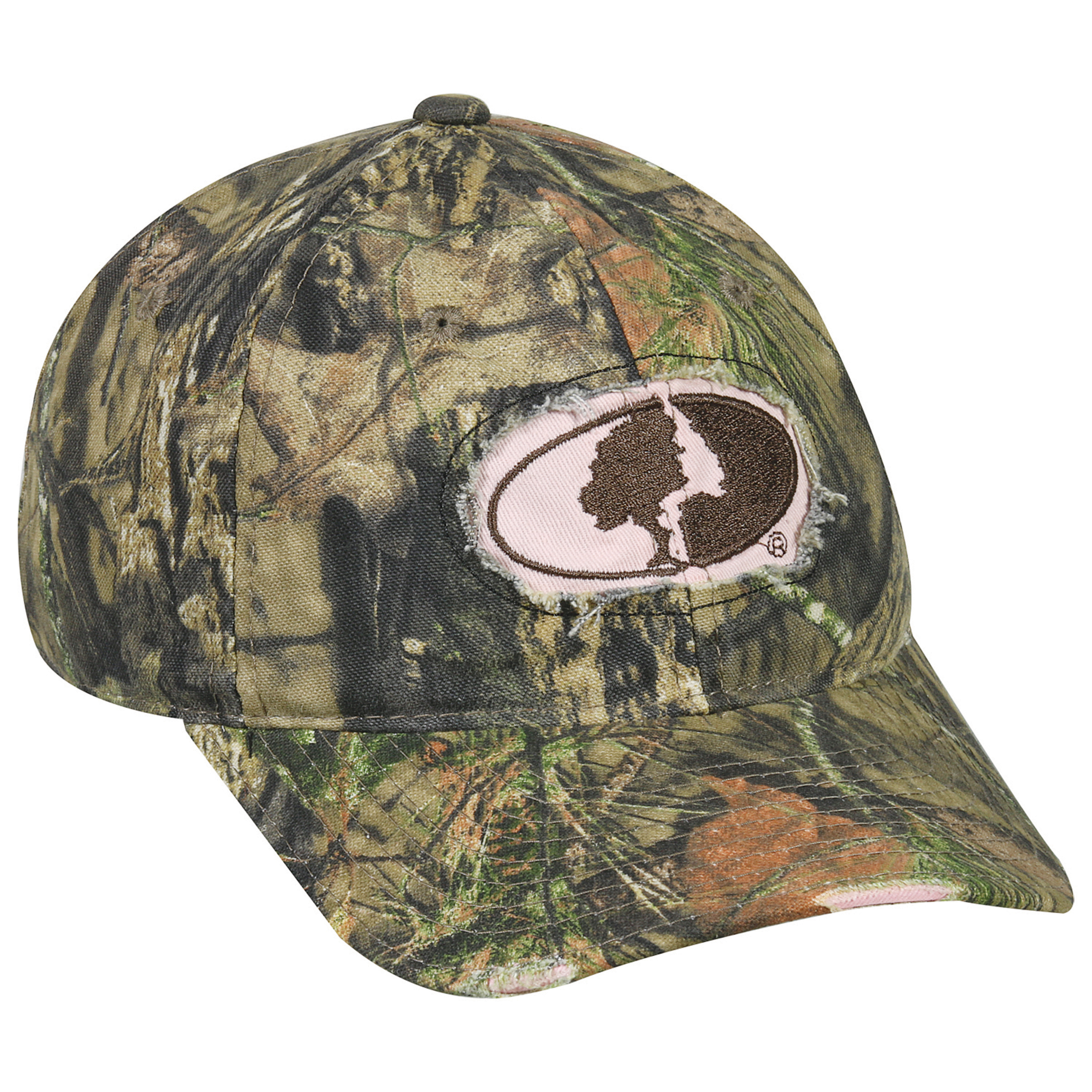 Women's Mossy Oak County Logo Two-Tone Camo Cap