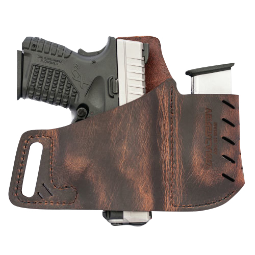 Versacarry Commander OWB Holster, Distressed Brown, RH, Full Size