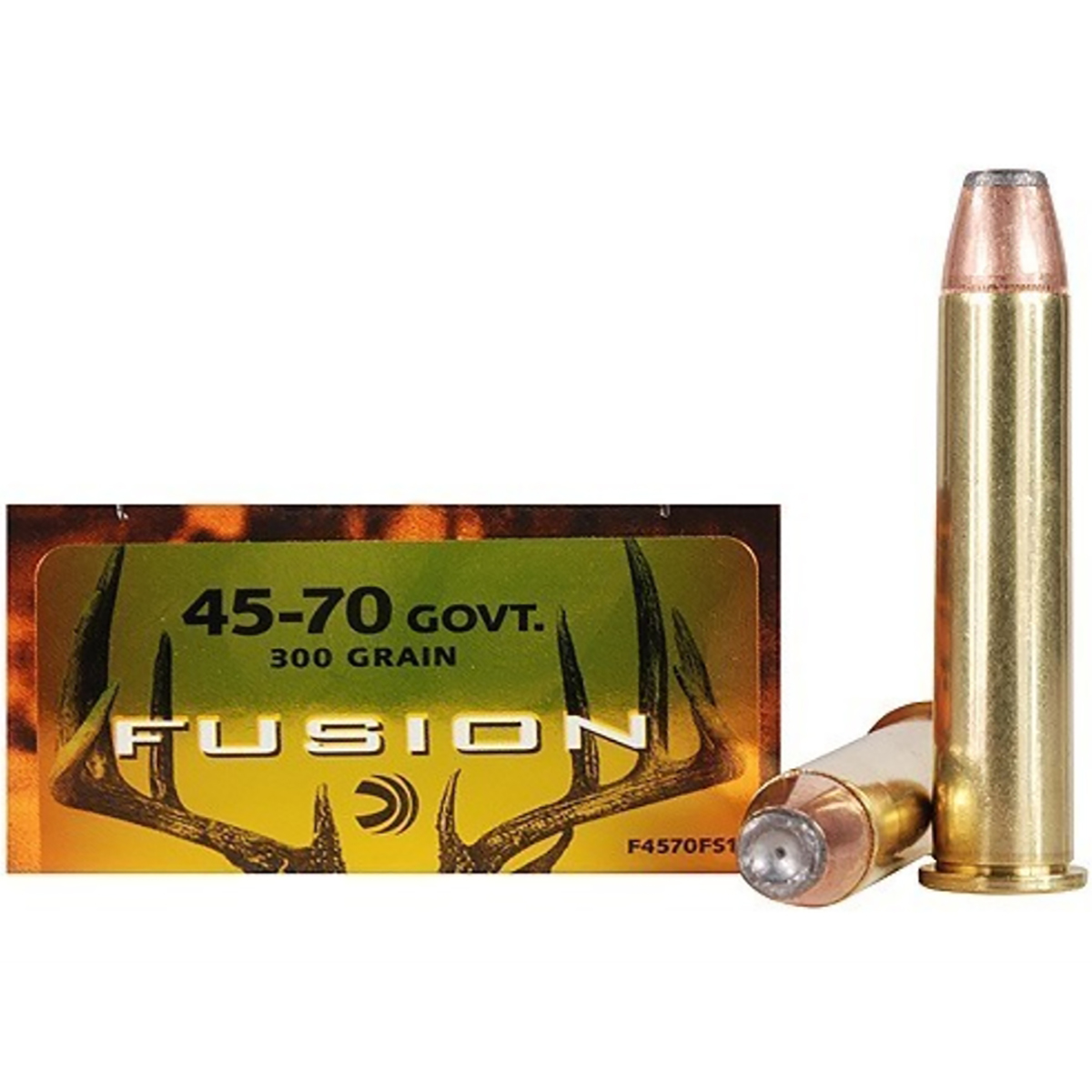 Fusion Rifle Ammunition, .45-70 Govt, 300-gr, Spitzer