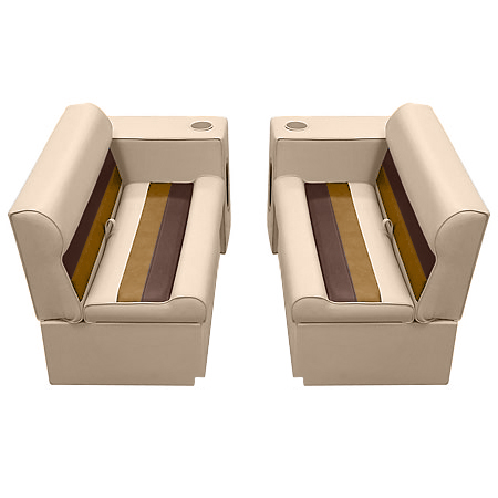 Deluxe Pontoon Furniture w/Toe Kick Base - Front Group 5 Package, Sand/Ches/Gold