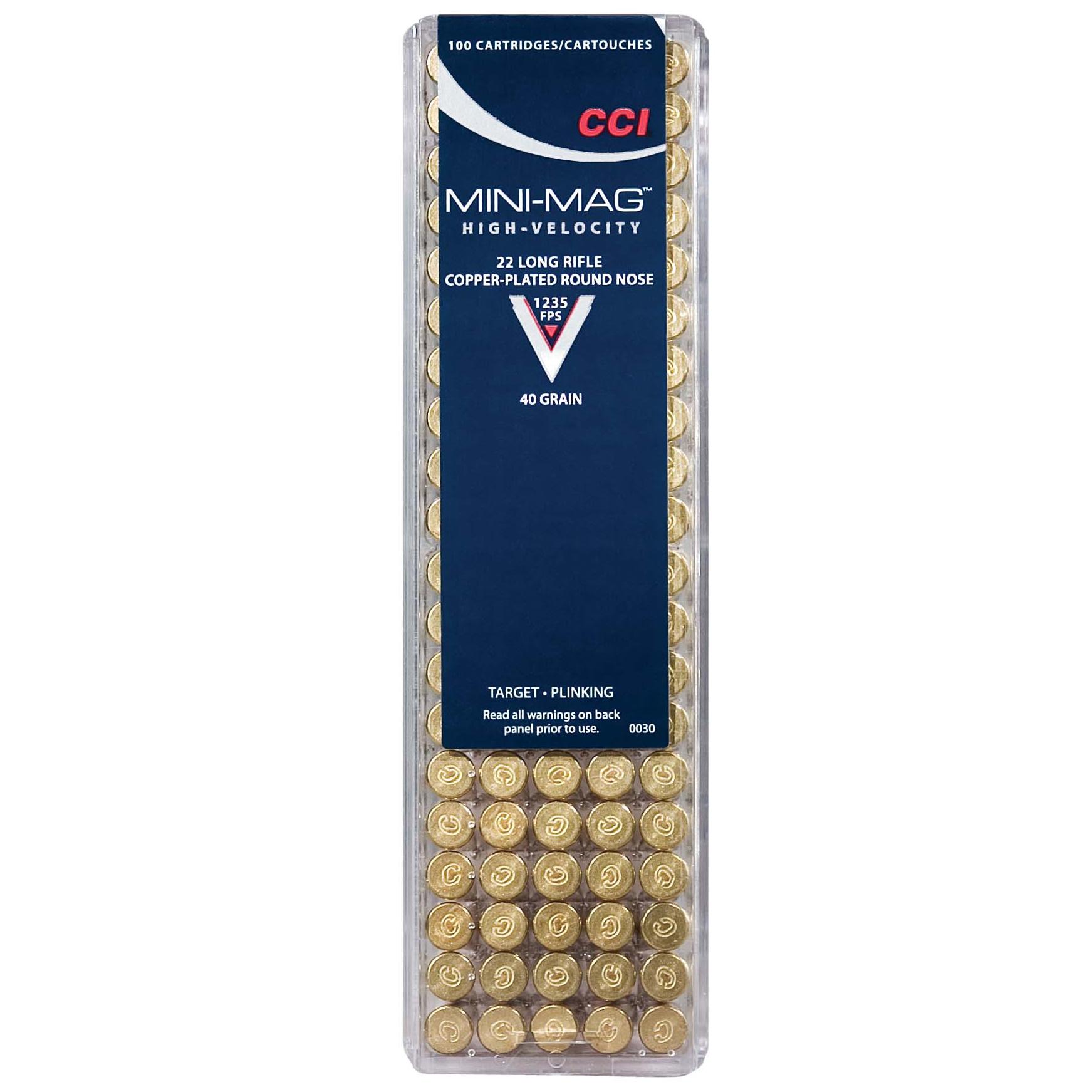 CCI Mini-Mag HV Varmint Ammunition, .22 LR, 40-gr, CPRN