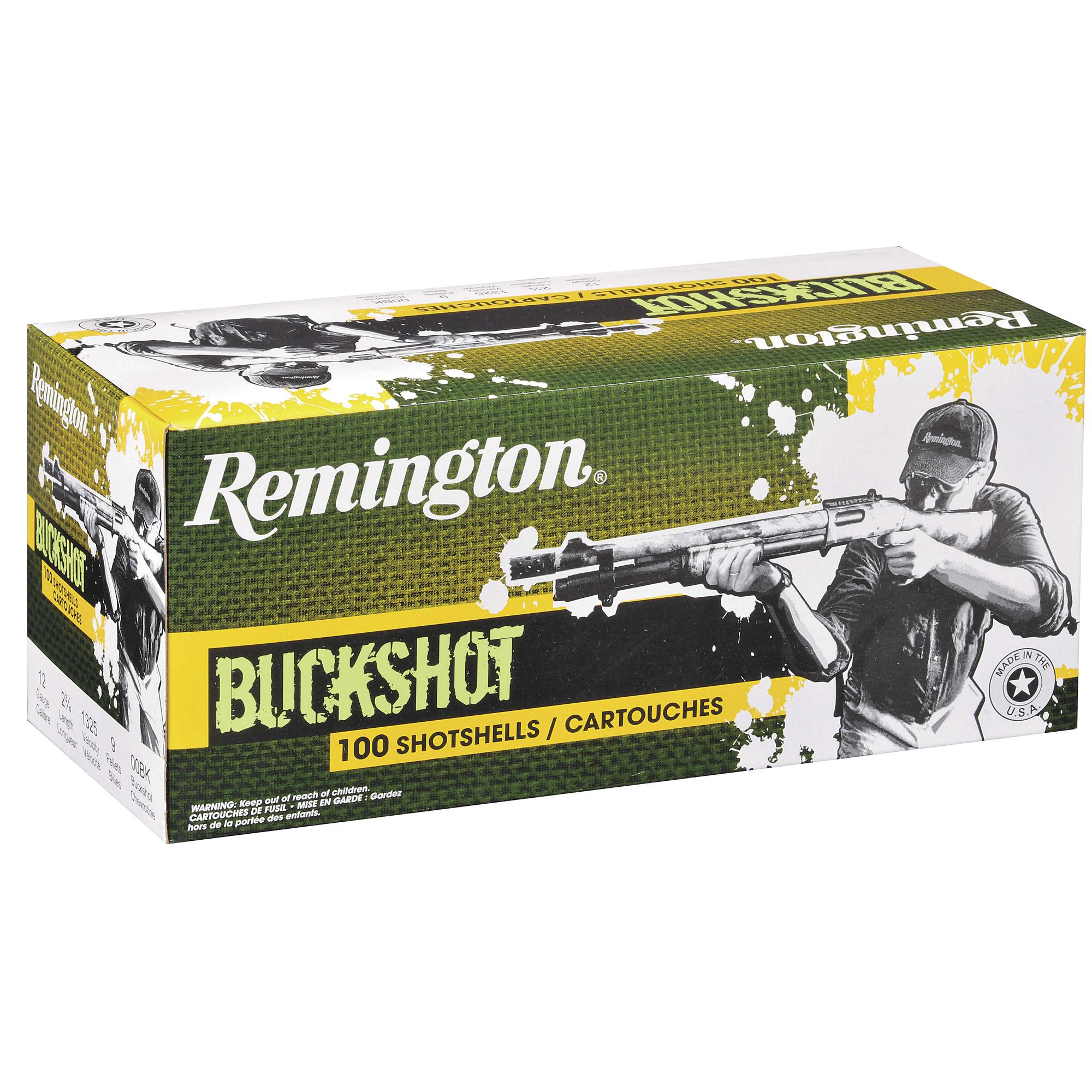 Remington Express Buckshot Value-Pack, 12-ga, 2-3/4″, 00, 9 Pellets, 100 Rounds