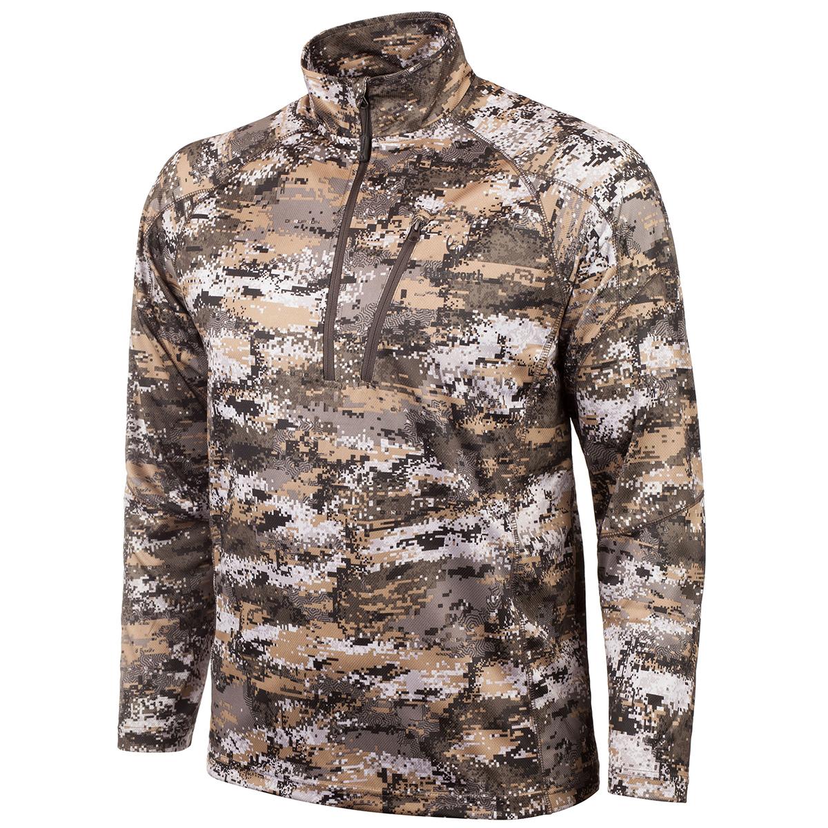 Huntworth Men's Lightweight Quarter-Zip Shirt, Disruption Camo