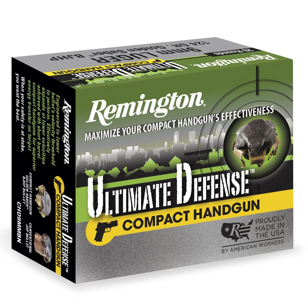 Remington Ultimate Defense Ammo, .357 Mag, 125-gr, BJHP