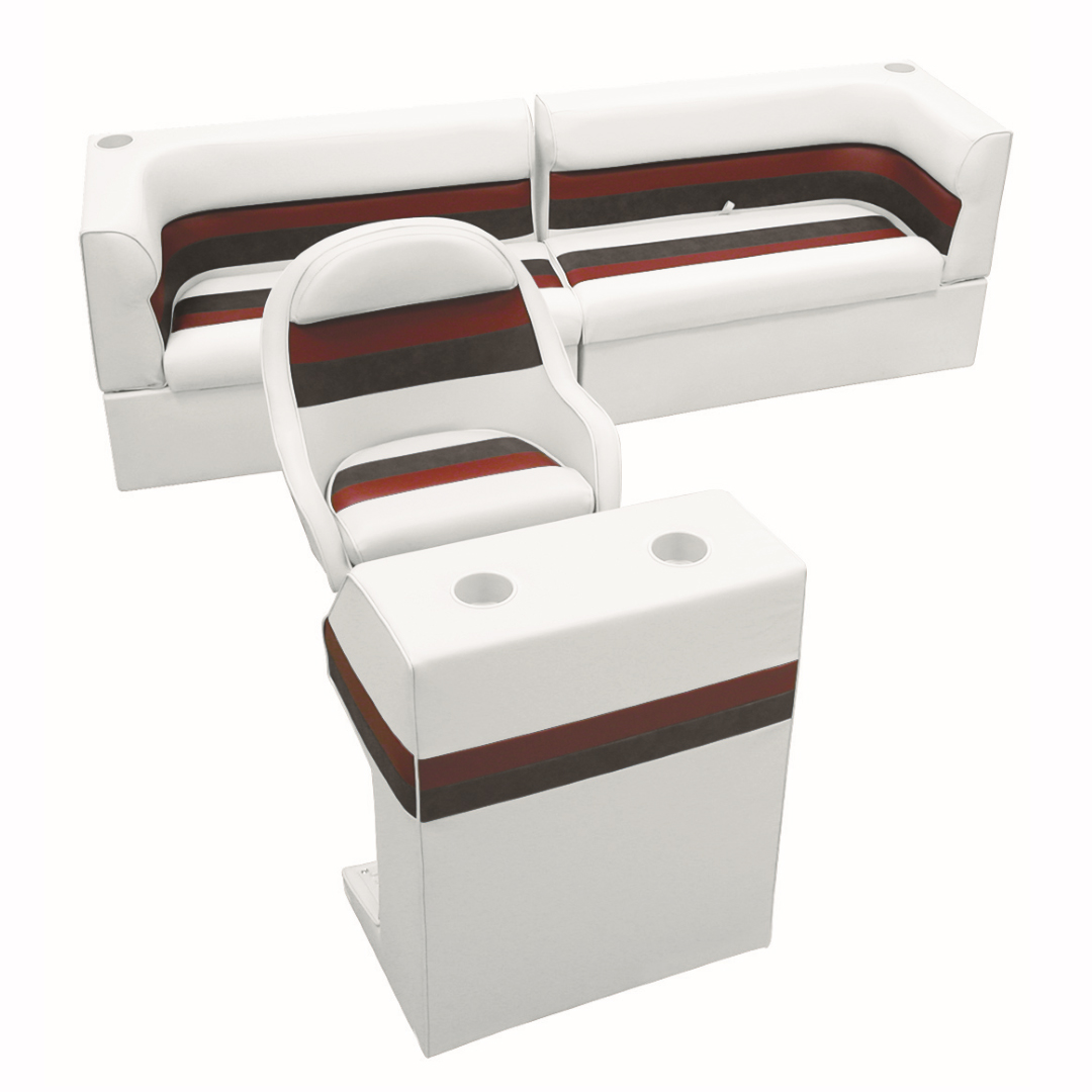 Toonmate Deluxe Pontoon Furniture w/Classic Base - Rear Traditional Package